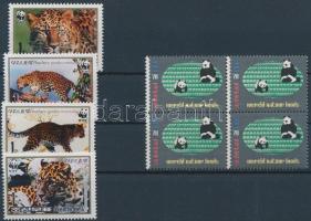 Animals 1984-1998 1 block of 4 + 1 set, Állat motívum 1984-1998  1 sor + 1 négyestömb