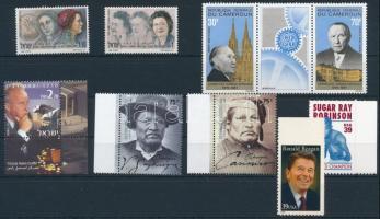 Famous people 1967-2006 2 sets + 1 stripe of 3 + 3 stamps, Híres emberek 1967-2006 2 klf sor + 1 hármascsík + 3 klf önálló érték