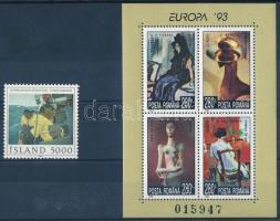 Painting 1981-1993 1 stamp + 1 block, Festmény motívum 1981-1993 1 önálló érték + 1 blokk