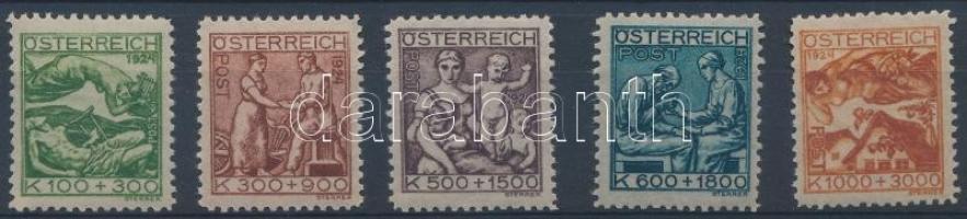 1924 Tuberkulózis sor Mi 442-446