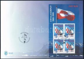 1995 Zászló blokk Mi 9 FDC-n