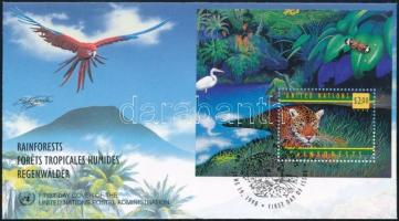 Protection of rainforests block FDC, Esőerdők védelme blokk FDC-n