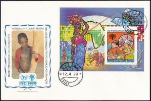 International Children's Year block FDC, Nemzetközi Gyermekév blokk FDC-n