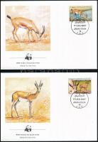 WWF: Gazelle set on 4 FDC WWF: Gazella sor 4 db FDC-n