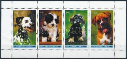 Batum Dogs 4é minisheet + block, Batum Kutyák 4é kisív + blokk