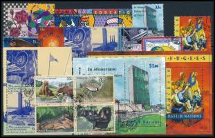 1999-2000 4 sets + 3 stamps + 3 blocks + 1 mini sheet + 1 block of 4, 1999-2000 4 klf sor + 3 klf önálló érték + 3 klf blokk + 1 kisív + 1 négyestömb