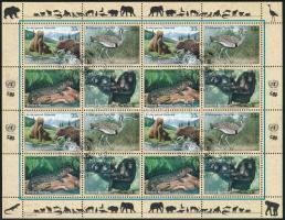 Endangered species mini sheet, Veszélyeztetett fajok kisív