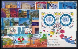 2000-2001 2 blocks + 4 sets + 3 stamps + 1 block of 4 + 1 stripe of 4, 2000-2001 2 klf blokk + 4 klf sor + 3 klf önálló érték + 1 négyestömb + 1 négyescsík