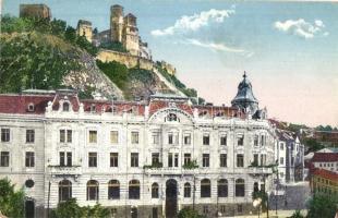 Trencsén, Trencín; Tátra szálló a Váralján / Hotel Tatra with castle