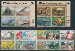 Veszélyeztetett fajok 1993-1998 5 klf négyestömb