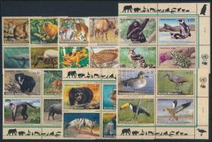 1994-2003 Veszélyeztetett fajok 4 klf négyestömb + 2 klf sor párokban