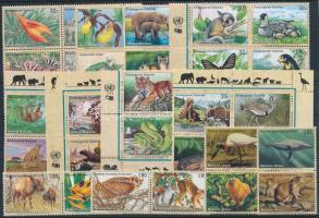 1994-2002 Veszélyeztetett fajok 8 klf négyestömb + 2 sor párokban