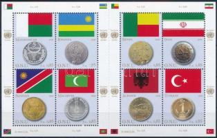 Flags and coins of Member States mini sheet, Zászlók és érmék kisív
