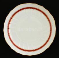 Herendi tál ( 2 db), kézzel festett, jelzett, egyiken máz hibával, d:27 cm, 36×27 cm