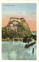 Árvaváralja, Oravsky Zámok (od Juhovychodu); vár, híd / castle, bridge
