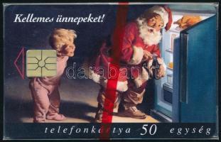 1997 Karácsony használatlan telefonkártya, bontatlan csomagolással