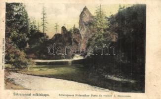 Sztracenai-völgy, Stracenovska dolina, Stratena; Sztraczenai sziklakapu. Kiadja Fejér E. 1548. / Stratzeneer Felsenthor / rock gate (ázott sarok / wet corner)