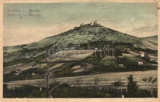 Torna, Turnau, Turnianske Podhradie, Turna nad Bodvou; Várrom / Hrad / castle ruins (kopott sarkak / worn corners)