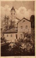 Szklenófürdő, Sklené Teplice; Ásvány gőzfürdő, templom / spa hall, steam bath, church (kis szakadás / small tear)