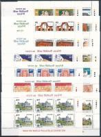1987-1989 India 89 bélyegkiállítás 14 különféle füzetlap / 14 different booklet panes