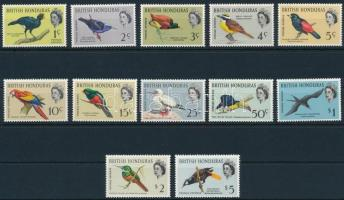 British Honduras Definitive, birds set, Brit-Honduras Forgalmi, madár sor