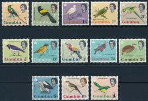 1963 Forgalmi, madár sor Mi 170-182 (172 betapadás / gum disturbance + 174 törés / folded)