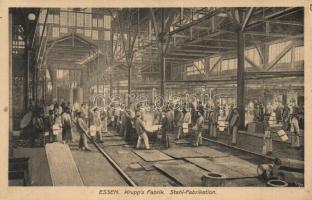 Essen, Krupps Fabrik, Stahl-Fabrikation / factory interior, Steel fabrication