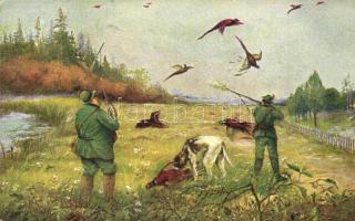 Pheasant hunting. Monopol 286-1.