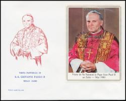 Pope John Paul II. block FDC, II. János Pál pápa blokk FDC-n