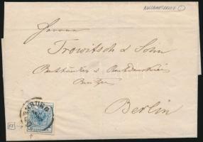 """~1855 on cover """"ÖDENBURG"""" - Berlin, ~1855 Lemezhibás 9kr külföldre küldött levélen """"ÖDENBURG"""" - Berlin"""