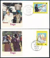 Pope John Paul II. closing value 2 FDC, II. János Pál pápa záróértékek 2 db FDC-n