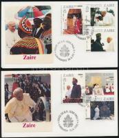 Pope John Paul II. set 2 FDC, II. János Pál pápa sor 2 db FDC-n