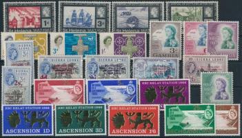 Queen Elisabeth 49 stamps, Erzsébet királynő motívum 49 klf forgalmi bélyeg 2 stecklapon
