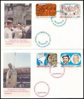 Papal visit set 2 FDC, Pápa látogatás sor 2 db FDC-n
