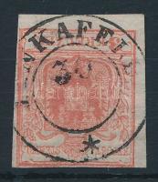 1850 3kr HP I. ívszéli nyomat (PIN)KAFELD