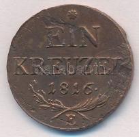 1816E 1kr Cu T:2 ph., karc Unger III.:1406.b