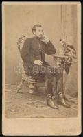 1864 Táby Elek (1845-?) kolozsvári törvényszéki bíró feliratozott fotója. 10,5x6,5 cm