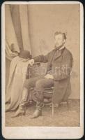 cca 1870 Táby Elek (1845-?) kolozsvári törvényszéki bíró ügyvéd korában készült fotója. 10,5x6,5 cm