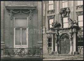 Bruno Reiffenstein (1868-1951): Bécsi városképek 4 db feliratozott és pecséttel jelzett fotó / Austrian photographer Vienna photos with seal 17x11 cm