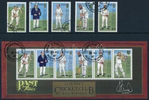 Cricket Players set + block, Krikettjátékosok sor + blokk
