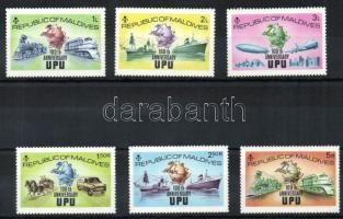 1974 100 éves az UPU Mi 514-519