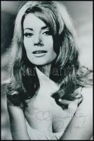 Claudine Auger (1941-) francia színésznő aláírt fotója / Autograph signature on photo 13x20 cm
