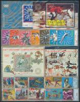 Főként olimpia motívum, bélyegek, blokkok, sorok (fehér dossziéban 3 db A/4-es berakólapon )