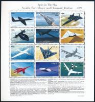 Airplanes mini sheet, Repülőgépek kisív