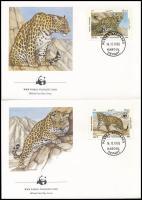 WWF Leopard set 4 FDC, WWF: Leopárd sor 4 db FDC-n