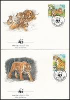 WWF Tiger set 4 FDC, WWF: Tigris sor 4 db FDC-n