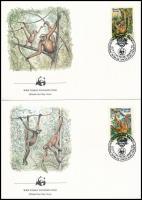 1984 WWF: Majmok sor 2 db FDC-n Mi 2052-2053