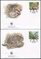 WWF Foggy Panther set 4 FDC, WWF: Ködfoltos párduc sor 4 db FDC-n