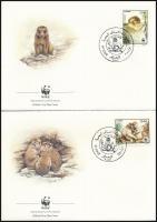WWF Berber macaque set 4 FDC, WWF: Berber makákó sor 4 db FDC-n