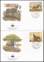 WWF Common eland set 4 FDC, WWF: Jávorantilop sor 4 db FDC-n